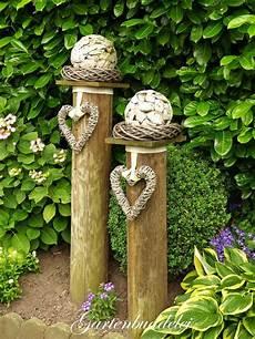 Holzbalken Deko Garten - pin berthel katharina auf deko draussen garten