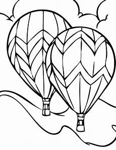 air balloon coloring pages free large images