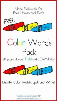 colors printable word 12830 free color words printable worksheets pack 20 pages words preschool learning