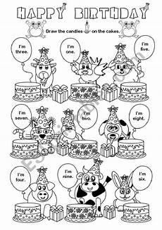 happy birthday esl worksheet by gabitza