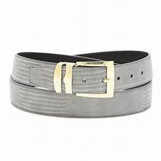 Solid Pattern Leather s bonded leather belt in solid colors lizard skin
