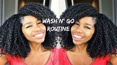 my wash and go curly hair routine for bouncy fluffy hair youtube