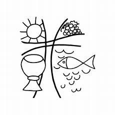 Malvorlage Fisch Christliches Symbol Christliches Symbol Sonne Traube Kelch Fisch Scrap And