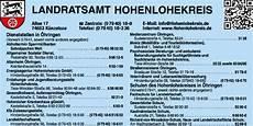 Landratsamt Hohenlohekreis In K 252 Nzelsau 0794018