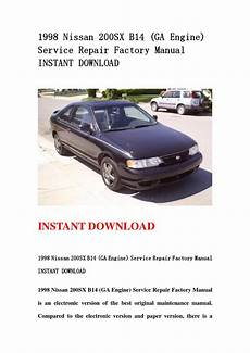 download car manuals 1998 nissan 200sx parking system 1998 nissan 200sx b14 ga engine service repair factory manual instant download by usejn issuu