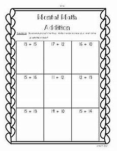 mental math worksheets addition and subtraction mental math 2 digit addition and subtraction worksheet
