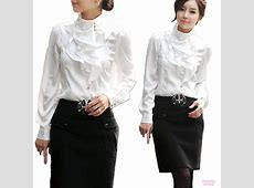 Beige/Purple/White Womens Office Shirt Ladies Work Silky