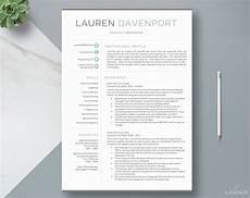 resume template cv template cv design creative resume etsy