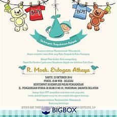 invitation card aqiqah template pin oleh bigbox design di aqiqah invitation kartu bayi