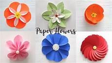 Blume Basteln Kinder - 6 easy paper flowers craft ideas diy flowers