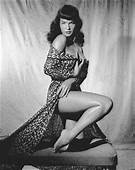 Bettie Page Vintage Pinup QUALITY CANVAS PRINT Black