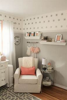 einrichtungsideen babyzimmer grau rosa wei 223 sterne wand in