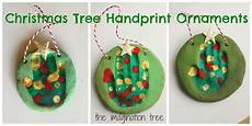 basteln mit krippenkindern salt dough handprint tree ornaments the