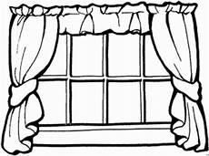Malvorlagen Fenster Lyrics Fenster Mit Vorhaengen Ausmalbild Malvorlage Architektur