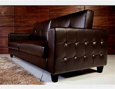 tufted faux leather sofa bed brown bachelor on a budget