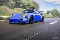 Porsche 911 964 Rwb Rauh Welt Term Cut Rear Wing And