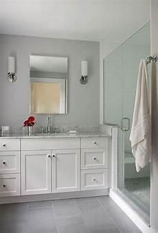 grey and white bathroom tile ideas white painted overlay shaker style custom bath