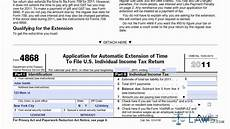 learn how to fill the form 4868 application for extension of time to file u s income tax return