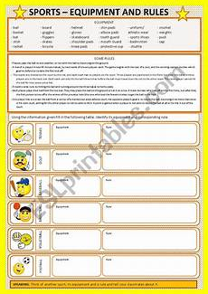 sports equipment worksheets 15781 sports equipment and esl worksheet by mar 237 lia gomes