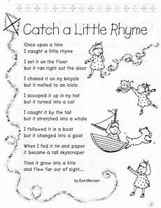 poetry worksheet for grade 1 25553 catch a rhyme by merriam intermediate grade 3 use this poem to introduce readers