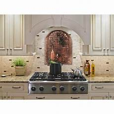 Copper Tiles For Kitchen Backsplash Directions Wine Cellar 22 In W X 28 In H Stonecast