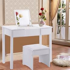 Bathroom Vanity With Dressing Table by Costway White Vanity Dressing Table Set Mirrored Bathroom