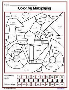multiplication worksheets colouring 4348 color by number third grade color by multiplication division distance learning con im 225 genes