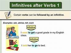 infinitives after certain verbs