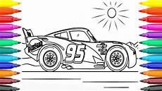 how to coloring cars 3 lightning mcqueen learning coloring pages for kids funny coloring book