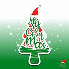 merry christmas tree and typography design stock vector illustration of illustration green