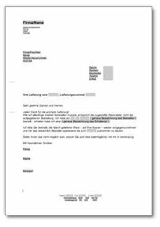 reklamation wegen einer falschlieferung at musterbrief