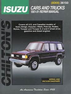 best car repair manuals 1985 ford e series on board diagnostic system chilton isuzu cars and trucks 1981 1991 repair manual