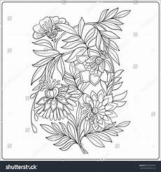 decorative vintage flowers pattern good coloring stock vector 376244392 shutterstock
