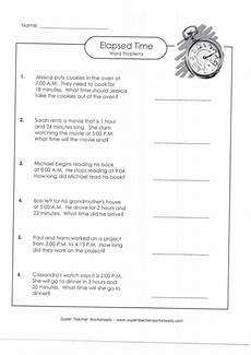 math worksheets elapsed time word problems 3411 elapsed time word problems a with answer key lovetoteach org