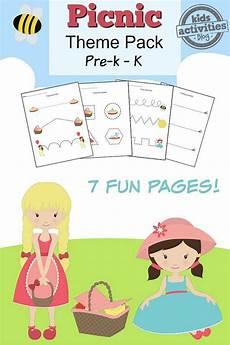 picnic printable preschool worksheet