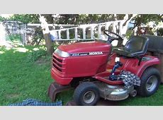 Change oil Honda riding lawn mower   YouTube