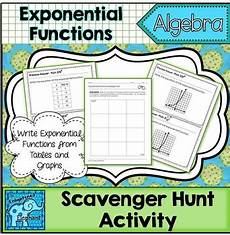 write exponential functions scavenger hunt activity by the enlightened elephant
