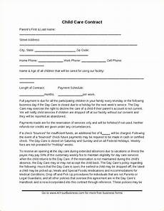 child care contract template hashdoc childcare ideas daycare contract daycare forms home