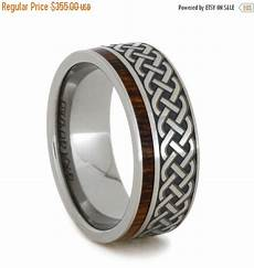 wedding sale titanium and ironwood eternity band with