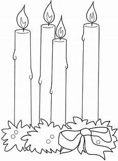 candela da colorare candele di natale