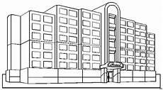 grosses hotel ausmalbild malvorlage sonstiges
