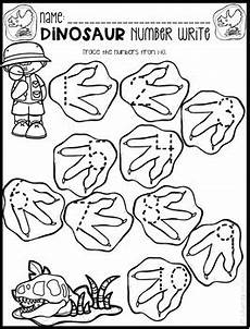 dinosaur math and literacy worksheets for preschool february tpt
