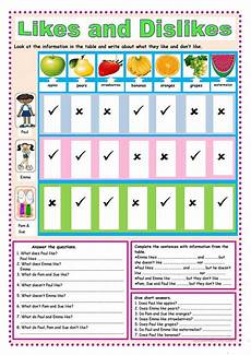 present simple likes and dislikes worksheets likes and dislikes worksheet free esl printable worksheets made by teachers