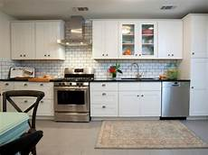 White Kitchen Tile Backsplash Ideas Contemporary White Kitchen With Subway Tile Backsplash Hgtv