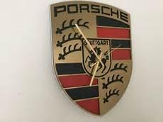 porsche logo wall clock circa 38x30 cm 21tst century