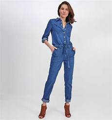 Denim Jumpsuit Medium Denim Promod