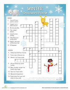 winter worksheet for 5th grade 20179 winter crossword worksheets crossword