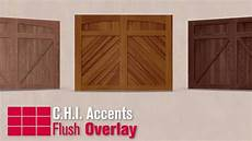 Chi Garage Doors 5217 by C H I Accents Woodtones Flush Overlay