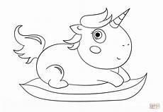 ausmalbild baby chibi einhorn ausmalbilder kostenlos