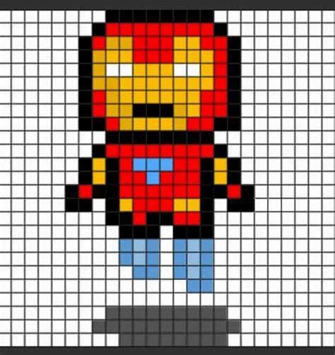 Iron Man Pixel Art Minecraft